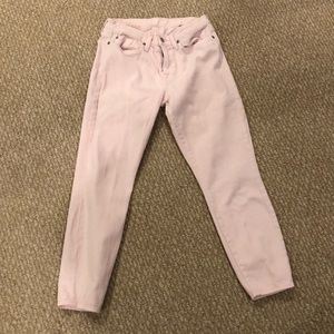 Light pink 7 jeans